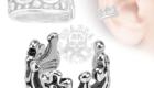 Crown Brass Non Piercing Ear Cuff