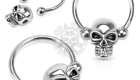 Hanging Skull 316L Surgical Steel Captive Bead Ring