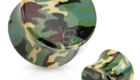 Green Camouflage Printed UV Acrylic Double Flared Plug