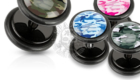 camouflage print, camo pattern, camouflage plugs, fake plugs, acrylic plugs, faux plugs, military print